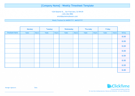 Employee Weekly Time Sheets Timesheet Template Time Card Spreadsheet Free Weekly Excel