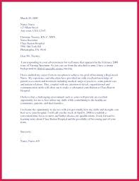 Samples Of Nursing Cover Letters Nurse Resume Cover Letter Nurse