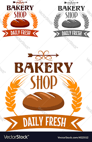 Bakery Shop Logo With Fresh Bread Royalty Free Vector Image