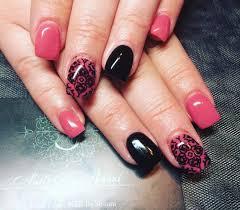 Pink Nail Art Design 27 Pink And Black Nail Art Designs Ideas Design Trends