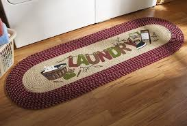 com vintage laundry room decorative braided runner home clever rug 1