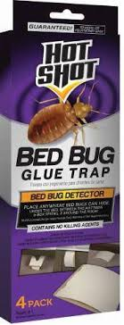 Hot Shot Bed Bug Glue Trap 4 Count Tar