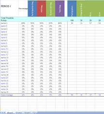 Teacher Grade Book Excel Template Teacher Gradebook