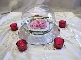 Fish Bowl Decorations For Weddings Roses in a Fish Bowl Centerpieces Budget Brides Guide A 12