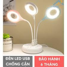 Đèn học và đọc sách mang theo người bóng led ánh sáng Vàng Ấm chống cận thị  cắm cổng USB mã 36017a - Đèn bàn Nhãn hàng No brand
