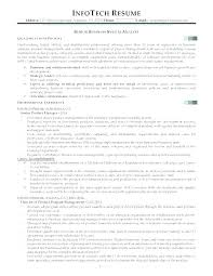 Business Analyst Resume Business Analyst Resume Sample For Freshers