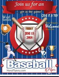 Baseball Brochure Template Baseball Promotional Flyer Template Hero Flyers