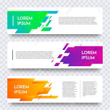 banner design template white web banner design vector template background modern
