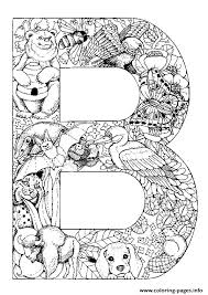 Small Picture Animal Alphabet Letter B Coloring Pages Printable