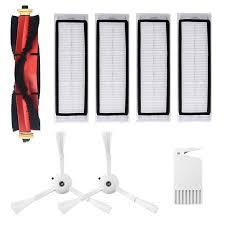 Robotic Vacuum Cleaner <b>Filters Side</b> Brushes <b>Main Brush</b> Kit 8pcs ...