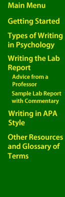 writing in the disciplines psychology writing a lab report writing a lab report in psychology