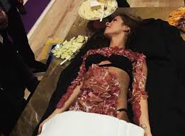 Woman Used As Salami Tray at Altai Brands Event in Las Vegas