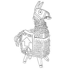 Disegno Llama Di Fortnite Da Colorare