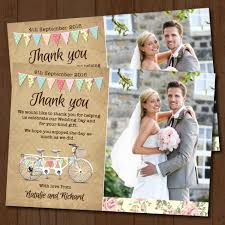 tandem bike bunting wedding thank you card elisa by design Wedding Thank You Bunting Uk Wedding Thank You Bunting Uk #15 Succulent Thank You Bunting