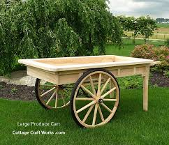 more views old fashion reion large wooden produce cart