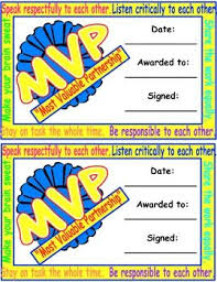 mvp award certificates mvp award certificate freebie encourage students to be cooperative