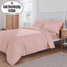 non iron plain dye dusky pink duvet