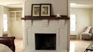 refinishing a brick fireplace diy