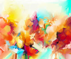 abstract colorful oil painting on canvas stock ilration ilration of blue brushstroke