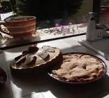 apple  cranberry  currant pie w  lemon nutmeg crust