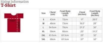 Unisex Short Sleeve Image To Shirt Size Comparison Chart