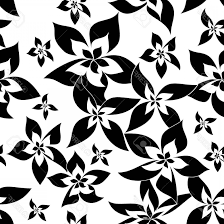Hd Black Background Vector Flower Pattern Handandbeak