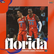 """NCAA March Madness on Twitter: """"CHOMP CHOMP! 🐊🏆 Florida takes down No. 18  Xavier 70-65 to secure the Charleston Classic Championship! #GatorsHoop… """""""