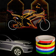 Design Reflective Stickers 8m Reflective Stickers Safety Auto Car Bicycle Cycling Diy Reflector Tape