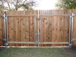 double fence gate. Wooden Driveway Gate Double Fence -