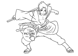 Small Picture Manga Naruto coloring pages for kids printable free