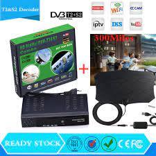 Digital Satellite HD TV Receiver DVB T2&S2 Combo TV Box High  Definition+300Miles Indoor digital Tv antenna