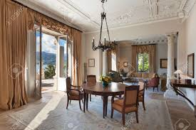Period Living Room Classical Interiors Luxury Living Room In A Period Mansion Stock