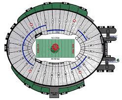 The Rose Seating Chart Pasadena Landrys Tickets Seating Chart Rose Bowl Pasadena Ca
