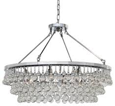 celeste glass drop crystal chandelier chrome 32