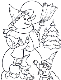 Small Picture Kids Snowman Coloring Pages Winter Coloring pages of