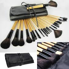 whole makeup brush set with bag