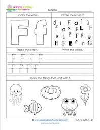 abc worksheets letter f