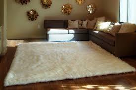 image of white fluffy rug ikea