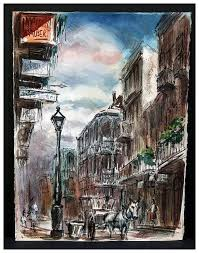 vintage new orleans painting by noted french quarter artist tom lane 1916 1991