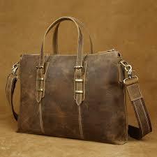 brand designer italian leather briefcase 14 39 39 laptop bag vintage
