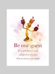 Beauty And The Beast Lumiere Quotes Best of Beauty And The Beast Inspired Quote ART PRINT Illustration