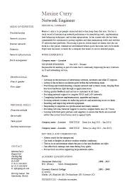 Network Security Engineer Sample Resume Fascinating Security Resume Template Network Security Engineer Resume Sample