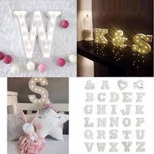 Lumiparty Weiß 26 Holz Brief Führte Festzelt Zeichen Alphabet