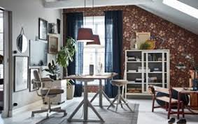 Ikea home office design Wall The Ikea IdÅsen Beige Sit Stand Work Desk Drawer Unit And Glass Storage Cabinet Are Ikea Workspace Inspiration Ikea