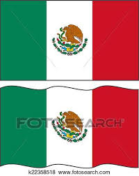 mexican flag waving drawing. Perfect Mexican Flat And Waving Mexican Flag Vector Illustration For Flag Waving Drawing A