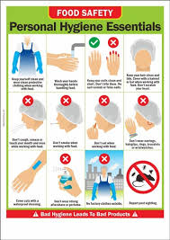 Food Hygiene Poster Food Safety Poster Personal Hygiene Essentials Safety Poster Shop