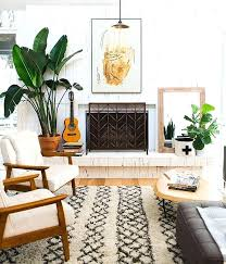 cozy rug plants mid century chairs love this living room boho modern ideas