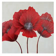red flower canvas wall art 80 x 80cm poppy dressyourwalls homeflairdecor on wall art red with red flower canvas wall art 80 x 80cm poppy dressyourwalls