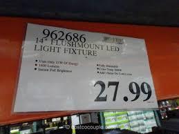 altair lighting 14 inch flushmount led light fixture costco 1