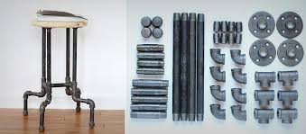 industrial pipe furniture. Interesting Industrial DIY INDUSTRIAL PIPE STOOL On Industrial Pipe Furniture O